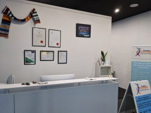 Hewish Rd reception area